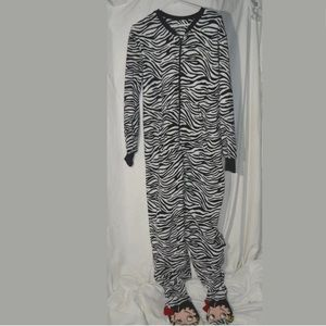Betty Boop Footed Sleeper Zebra Print